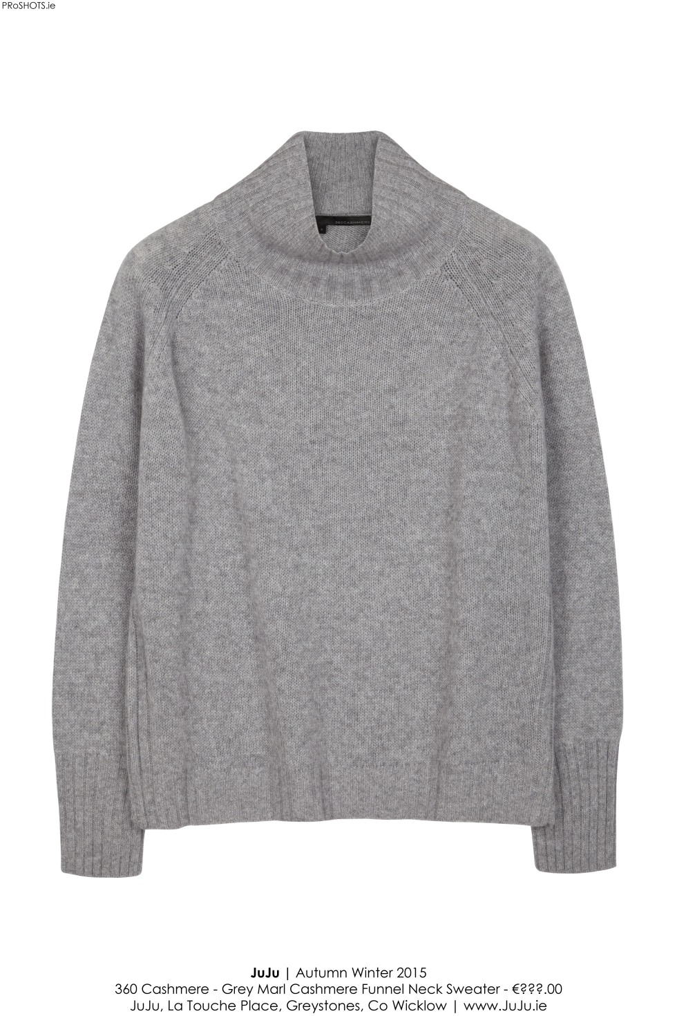 JuJu - 360 Cashmere Grey Sweater - High Res